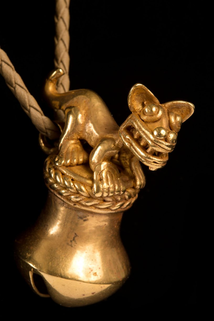 The quality of this pre-Columbian gold piece is exceptionally fine, especially considering it was cast in wax around 1,000 years ago using the lost wax technique.